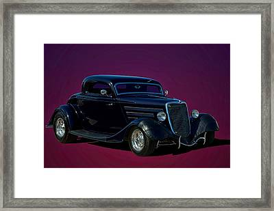 1934 Ford 3 Window Coupe Hot Rod Framed Print