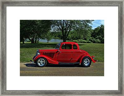 1934 Ford 5 Window Hot Rod Framed Print