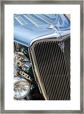 1934 Ford Deluxe Hot Rod Grille Emblem Framed Print by Jill Reger