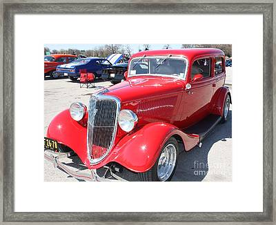 1934 Ford Greyhound Two Door Sedan Framed Print