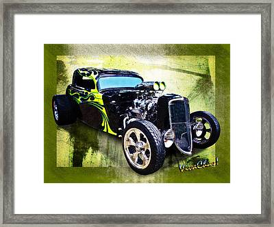 1934 Ford Three Window Coupe Hot Rod Framed Print