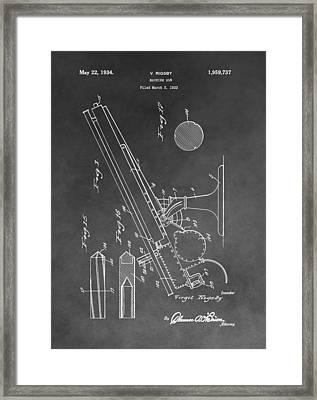 1934 Machine Gun Framed Print by Dan Sproul