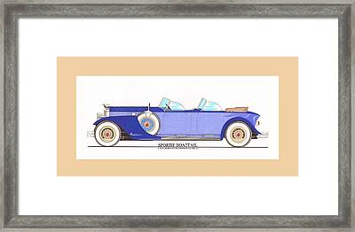 1934 Packard Sportif Boattail Concept By Dietrich Framed Print by Jack Pumphrey