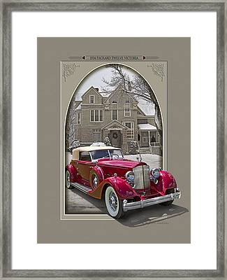 1934 Packard Twelve Victoria Framed Print by Roger Beltz