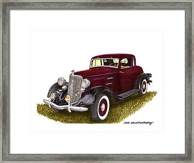 1934 Plymouth P E Coupe Framed Print by Jack Pumphrey