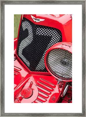 1935 Aston Martin Ulster Race Car Grille Framed Print
