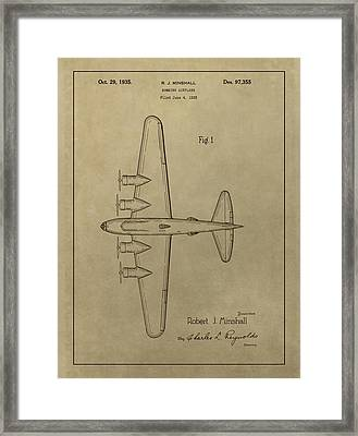 1935 Bombing Airplane Patent Framed Print