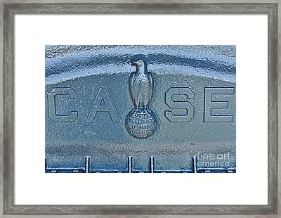 1935 Case Tractor Antique Framed Print
