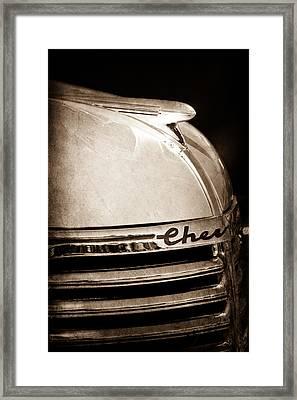 1935 Chevrolet Hood Ornament - Emblem Framed Print by Jill Reger