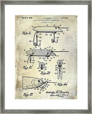 1935 Fishing Lure Patent Framed Print