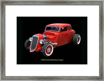 1935 Ford 5 Window Coupe Framed Print by Jack Pumphrey