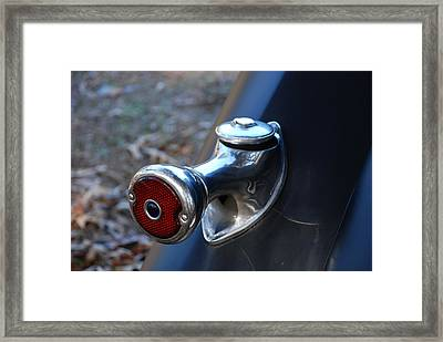 1935 Ford Tail Light And Gas Cap Framed Print