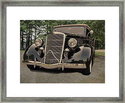 1935 Ford V8 Framed Print by Thomas Young