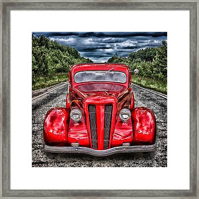 1935 Ford Window Coupe Framed Print by Richard Farrington