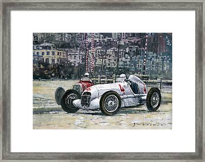 1935 Monaco Gp Mercedes-benz W25 #4 L. Fagioli Winner  Framed Print