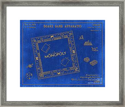 1935 Monopoly Patent Art 3 Framed Print by Nishanth Gopinathan