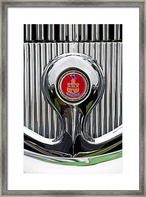 1935 Pierce-arrow 845 Coupe Emblem Framed Print by Jill Reger
