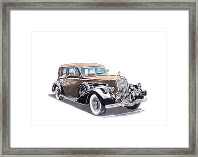 1935 Pierce Arrow V 12 Sedan Framed Print