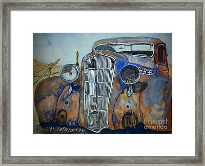 1935 Plymouth Coupe Framed Print by DJ Laughlin