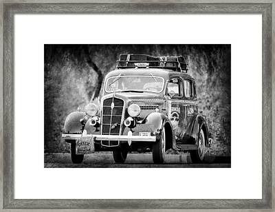 1935 Plymouth Taxi Cab -568bwa Framed Print by Jill Reger