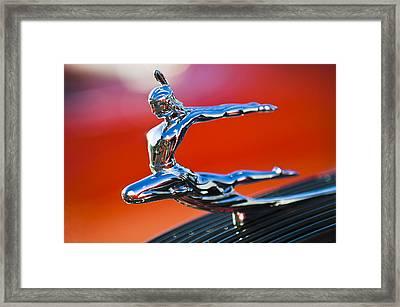1935 Pontiac Sedan Hood Ornament 2 Framed Print by Jill Reger