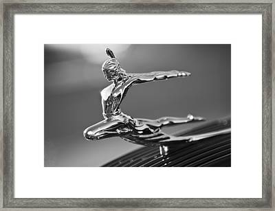 1935 Pontiac Sedan Hood Ornament 4 Framed Print