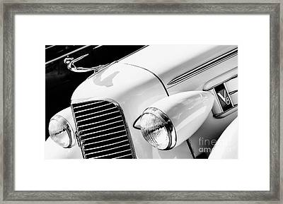 1936 Cadillac V8 Monochrome Framed Print by Tim Gainey