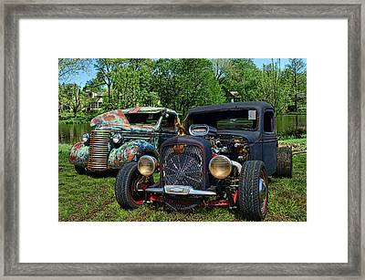 1936 Chevrolet And 1939 Chevrolet Rat Rod Pickups Framed Print by Tim McCullough