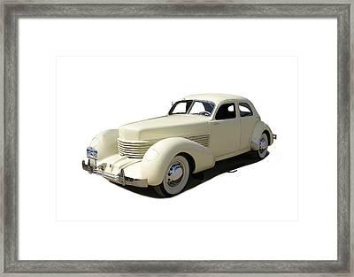 1936 Cord 810 Westchester Sedan Framed Print by Jack Pumphrey