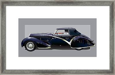 1936 Delahaye 135 Competition Framed Print by Alain Jamar