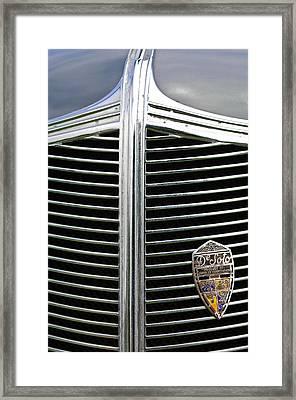 1936 Desoto Airstream Grille Emblem Framed Print by Jill Reger