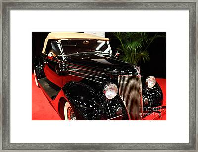 1936 Ford Deluxe Roadster - 5d19963 Framed Print by Wingsdomain Art and Photography