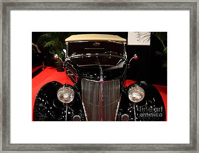 1936 Ford Deluxe Roadster - 5d19964 Framed Print by Wingsdomain Art and Photography