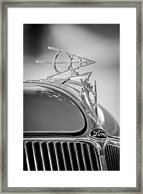 1936 Ford Deluxe Roadster Hood Ornament 2 Framed Print