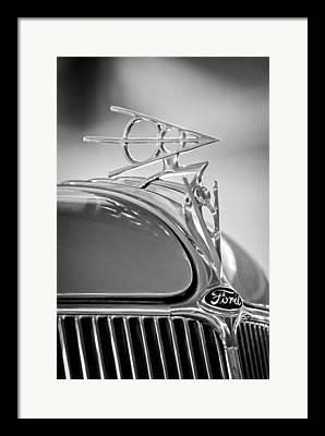 1936 Ford Deluxe Roadster Framed Prints