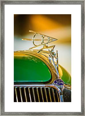 1936 Ford Deluxe Roadster Hood Ornament Framed Print
