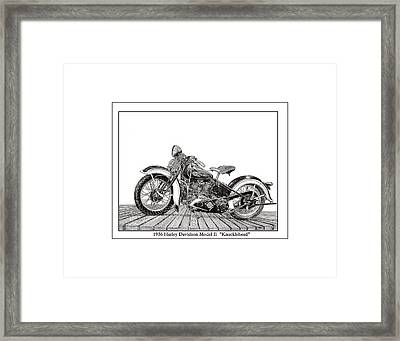 1936 Harley Knucklehead Framed Print by Jack Pumphrey