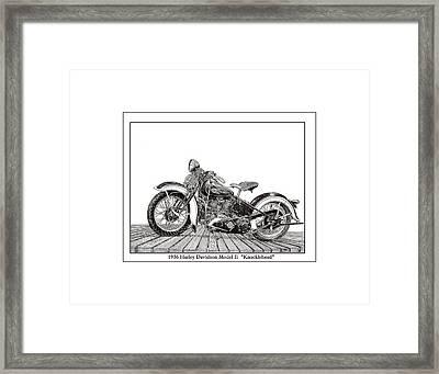 1936 Harley Knucklehead Framed Print