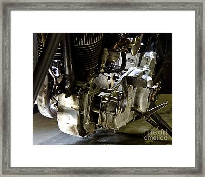 1936 Indian Flat Tracker Motorcycle Framed Print by Wilma  Birdwell