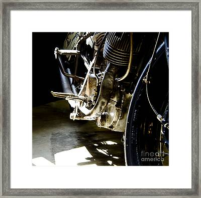 1936 Indian Tracker Racer Framed Print by Wilma  Birdwell