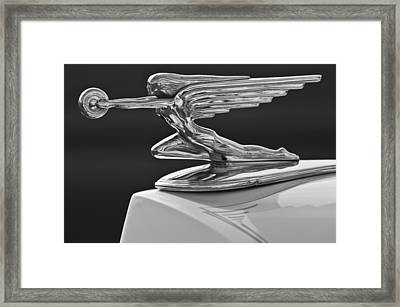 1936 Packard Hood Ornament 3 Framed Print by Jill Reger
