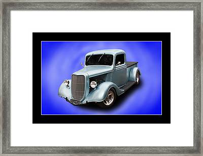 Framed Print featuring the photograph 1936 Pickup by Keith Hawley