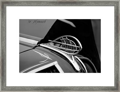 1936 Plymouth Sailing Ship Hood Ornament Framed Print