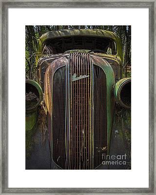 1936 Pontiac Head On Framed Print