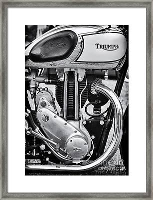 1936 Triumph Tiger 80 Monochrome Framed Print