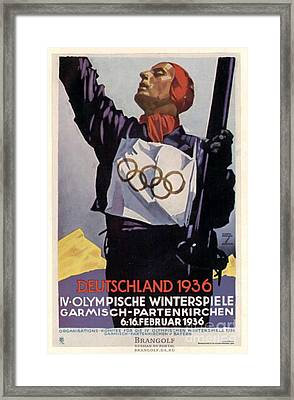 1936 Winter Olympics Framed Print by Unknown