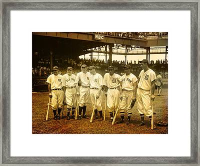 1937 All Stars Framed Print by EricaMaxine  Price