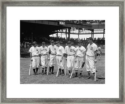 1937 American League All-star Players Framed Print by Georgia Fowler