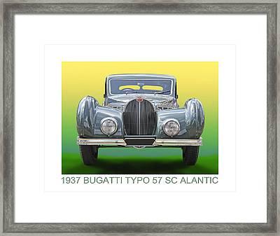1937 Bugatti 57 S C Atalante Framed Print
