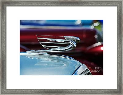1937 Cadillac Hood Ornament Framed Print by Tim Gainey